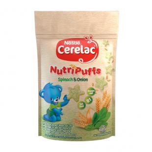 Awal Sehat Nestlé, Cerelac Nutfipuff Spinach Onion : MPASI