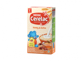 Produk Nestle Cerelac, Bubur Sereal Susu, Honey and Dates