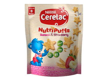 camilan pisang strawberry cerelac