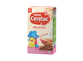 awal sehat nestle, produk MP ASI Nestle Cerelac, milky red rice
